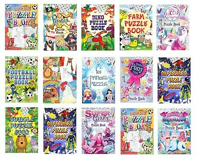 12 X Puzzle Books Party Favours For Loot Bags / Party Bag Fillers