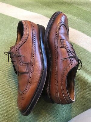 Vintage 70's Florsheim Imperial 93602 Kenmoor V-Cleat Wing Brown 10 D