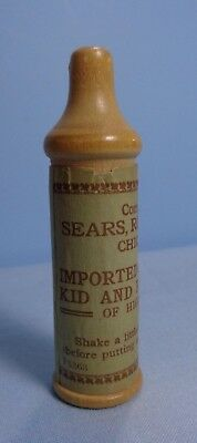 "Vintage . Sears, Roebuck & Co., Chicago, Ill. 3""T . Powder Container for gloves"