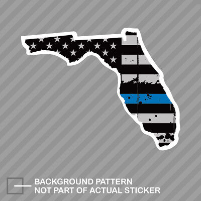 Florida FL State Flag Thin Blue Line Police Sticker Decal #247 Made in USA