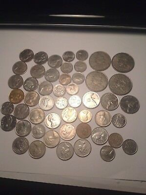Old Bermuda Coin Lot - 52 Coins Total