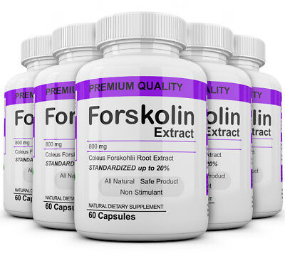 5 Maximum Strength 100% Pure Forskolin 800mg Rapid Results! Forskolin Extract