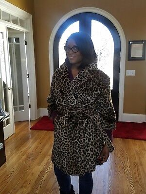 60's Kilimanjaro Leopard print Faux fur coat by Sidney Blumenthal and Co