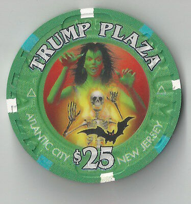 $25 Atlantic City Trump Plaza Casino Chip Halloween 2003 Rare Monster Skeleton