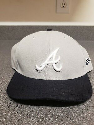 43424b37dceee ... germany atlanta braves new era mlb gray navy blue authentic 59fifty  fitted hat d1b69 f5870