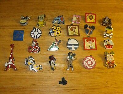 Lot of 23 Disney Souvenir/Trading Pins-Characters Theme Parks Etc-Vintage to Now