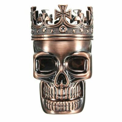 Metal Bullet Shape King Skull Herbal Herb Tobacco Grinder Smoke Grinders Crusher