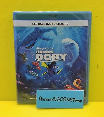 Disney Pixar FINDING DORY BLU-RAY DVD DIGITAL Authentic With Movie Rewards - NEW