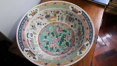 Antique Peranakan Straits Chinese Famille Rose Basin