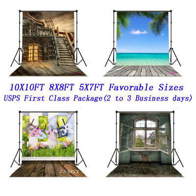 US Fast Ship Scenery Backdrop Vinyl Background 10X10FT 8X8FT 5X7FT Photo Props