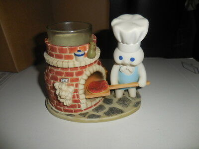 """The Danbury Mint Pillsbury Doughboy """"Pizza Party"""" Candle Holder Figurine"""