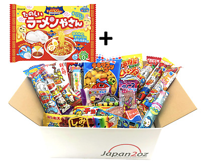 NEW! 20 PIECE JAPANESE CANDY SET #8 + DIY Ramen Noodles Snack Box FREE AIRMAIL