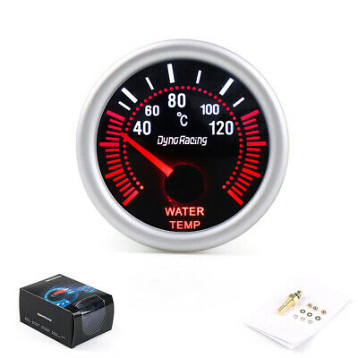 2″ 52mm White LED Water Temperature Temp Gauge Meter with Sensor Smoke Face Tint