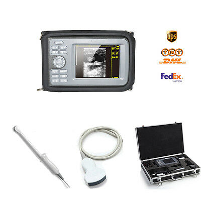 "5.5"" Full Digital LCD Portable Ultrasound Scanner+Convex & Transvaginal 2 Probes"