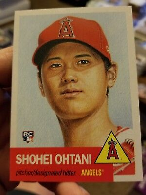 2018 Topps Now Living Set #7 SHOHEI OHTANI ROOKIE CARD RC Los Angeles Angels