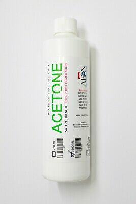 EDS 100% Pure Acetone 250ml SNS Gel Acrylic Nail Polish Soak Off Remover