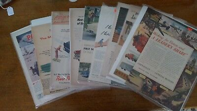 vintage war and auto advertising lot