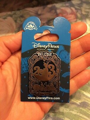 Disney * DATED 2013 - BELIEVE IN MAGIC * New on Card WDW Trading Pin