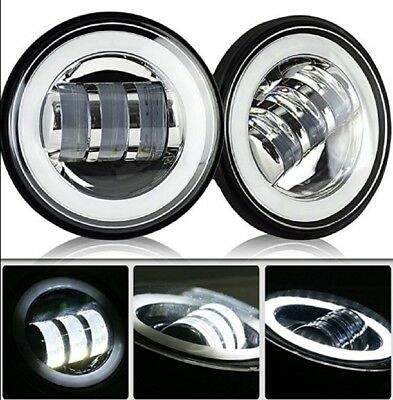 """Pair of Motorcycle Daymaker 4-1/2"""" 4.5inch LED Passing Light for Harley Davidson"""