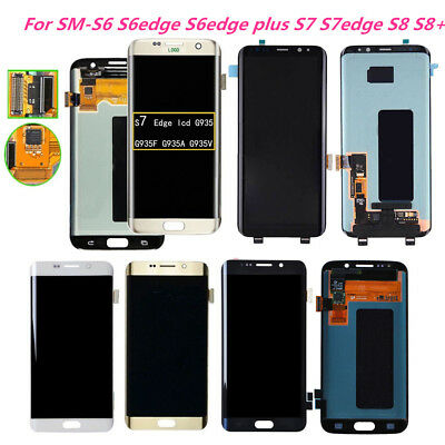 LCD Display Touch Screen Digitizer Replace for Samsung Galaxy S6 S7 Edge S8 Plus