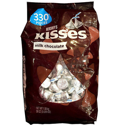 Hershey's Kisses Milk Chocolate 1.58kg Bulk 330 Pcs Made in USA