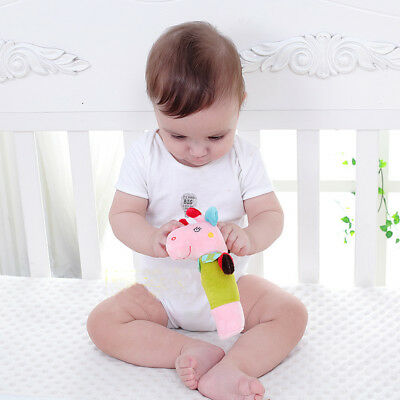 [JB] Hand Rattle Music Animal Rattle Soft Bell Baby Toy Development Children's