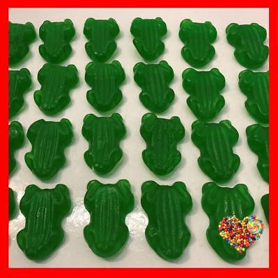 1KG GREEN FROGS Gummies Gummy GREEN Lollies Made in Australia