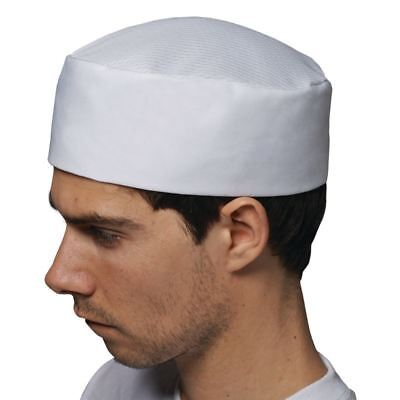 Le Chef Staycool Hat White Cap Polycotton Oval Thermocool Top Clothing