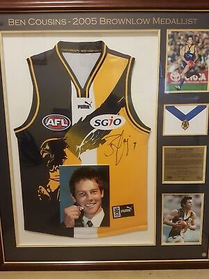 Ben Cousins Signed 2005 Brownlow Medallist Official AFL Jumper Framed