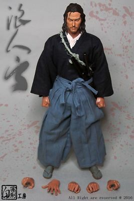 """Japanese Samurai Warrior Male Suits Clothing Sets W/Head Carving 1/6 F 12"""" Toys"""