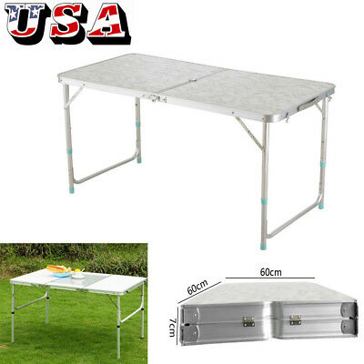 4' Folding Table Portable Plastic Indoor Outdoor Picnic Party Dining Camp Home