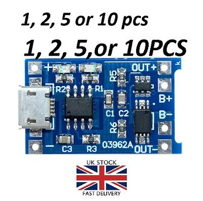 5V Micro USB 1A 18650 Lithium Battery Charging Board TP4056 Module Quality Board