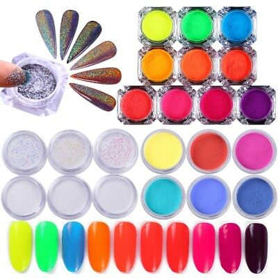 Nail Art Glitter Powder Dust Mirror Color Changing Holographic Pigment Chrome