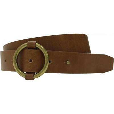 Mossimo Womens Bonded Leather Belt with Round Buckle