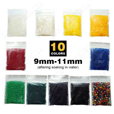 10~500g Crystal Soil Water Gel Beads Magic Jelly Ball Decoration Wedding Party