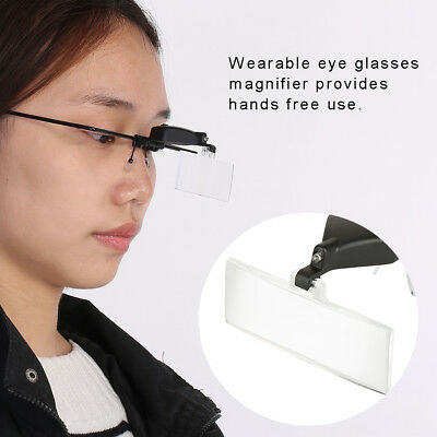 Glass Magnifying Magnifier Jeweller Eye Jewelry Loupe Loop LED Light New