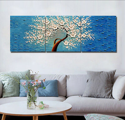 "Flower Tree Canvas Print Wall Art Oil Painting Home Modern Decorative 16X16"" NEw"