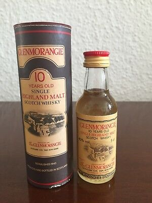Glenmorangie 10 Years old singel Malt scotch Whisky Miniature, Mini Bottle,