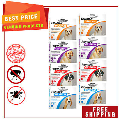 FRONTLINE ORIGINAL for Dogs 8 Pipettes ( 2 X 4 Pack ) Flea and Tick Treatment