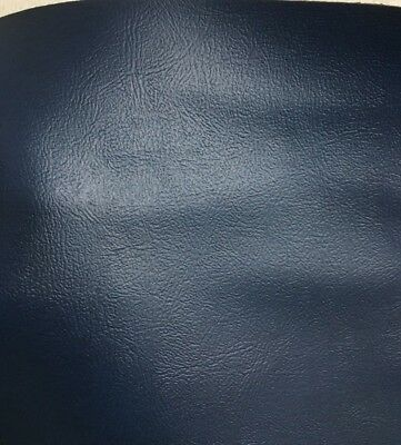 NAVY BLUE Faux Leather Vinyl Fabric (54 in.) Sold BTY