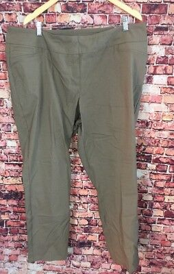 462266dd0ce Westbound Woman Dark Taupe The Park Ave Fit Slim Leg Dress Pants Size 24W  Short
