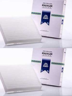 Pair of New Premium Guard Cabin Air Filters fits Jaguar Lexus Toyata Subaru