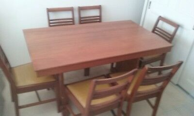 Antique Dining Table and Chairs 1950's