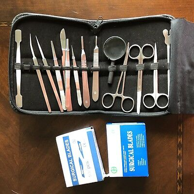 Scientific Advanced Blades Lab Anatomy Medical Student Dissecting Kit Set