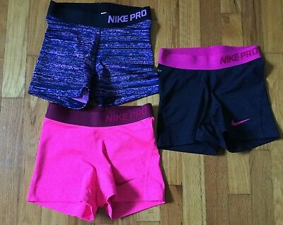 Women's Nike Pro Dri-Fit Athletic Compression Shorts Size XS Lot of 3 Shorts