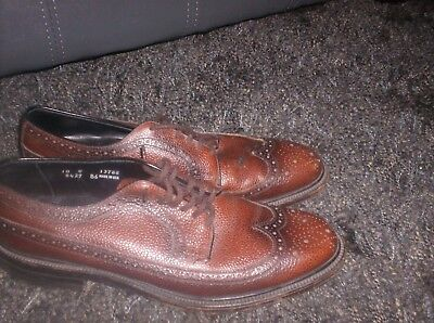 Vintage Custom Grade Copeg By Scholl Dress Wing Tips 10C made in USA