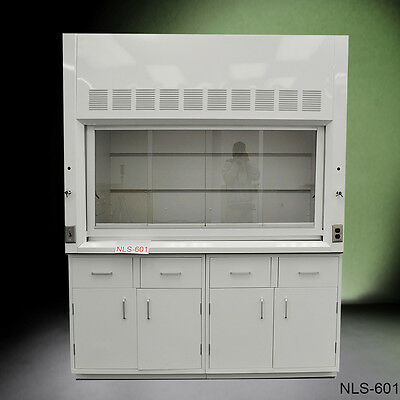 Chemical 6' Fume Hood with Epoxy Top & GENERAL STORAGE Cabinets -