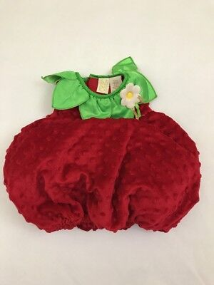 Strawberry Costume 3-6 Months Infant Baby Red Fruit (No Hat)