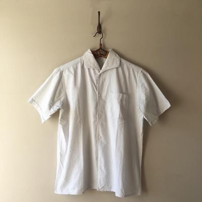 True Vintage French 1940s/50s Cotton Casual Shirt Top S M