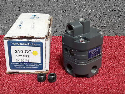 "ControlAir 210-CC Air Pneumatic Relay 3/8"" NPT 2-120psi *"